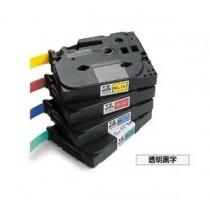 BROTHER TZe-111 6mm x 8M 特強保護層標籤帶 (透明底黑字)