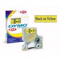 DYMO SC43618  D1 標籤帶  6mm x 7M (黃底黑字)
