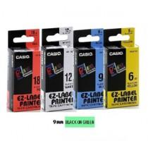 卡西歐 XR9GN1 9mm 標籤帶 (綠底黑字)