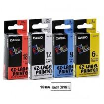 卡西歐 XR18WE1 18mm 標籤帶 (白底黑字)