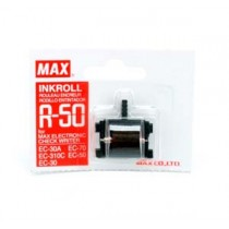 MAX R-50 支票機墨轆 - 紅色