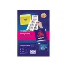 AVERY J8567-10 (199.6 X 289.1MM)CLEAR INKJET LABEL 1 LABELS/SHEET