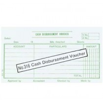 316 英文傳票 - CASH DISBURSEMENT