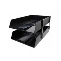 304-15  F4 雙層文件盤 - 黑色
