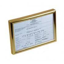 SM-A4 證件相架 - 金框
