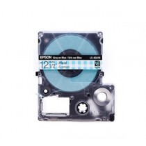 EPSON C53S625614 (LC-4CAY) GRAY ON BLUE CHECK 12MM TAPE