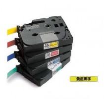 BROTHER TZe-621 9mm x 8M 特強保護層標籤帶 (黃底黑字)