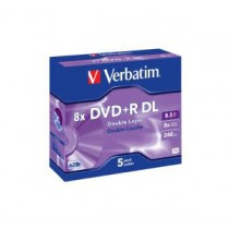 VERBATIM DVD+R DOUBLE LAYER 8X 8.5GB (10PCS/SPINDLE)(43666)