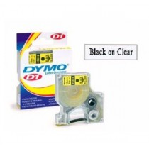 DYMO SC40910  D1 標籤帶  9mm x 7M (透明底黑字)