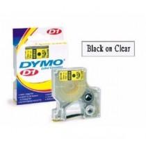 DYMO SC45010  D1 標籤帶  12mm x 7M (透明底黑字)