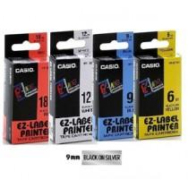 卡西歐 XR9SR1 9mm 標籤帶 (銀底黑字)