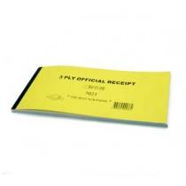 7023 有編號免過底紙收條 (一套三張)
