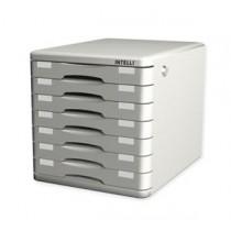 INTELLI FS-1045 F4 有鎖膠文件櫃 (七格)
