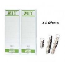 MIT  A4 2-D圈三面插咭活頁夾 65mm - 白色