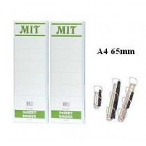 MIT  A4 4-D圈三面插咭活頁夾 65mm - 白色