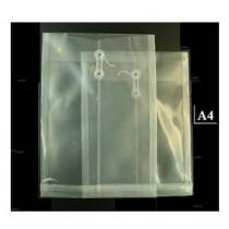 A4 透明有繩公文袋 - 白色