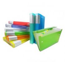 易事美 ED4308 / 4313A 彩色磨砂風琴文件袋 - A4