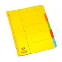 辦得事 6045 A4 五級彩色紙質分類索引