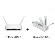 Edimax  AC1200 Wireless Concurrent Dual-Band Gigabit Router(BR-6478AC+EW-7822UAC)