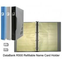 DATA BANK R500 A4 可加頁名片冊 - 藍色
