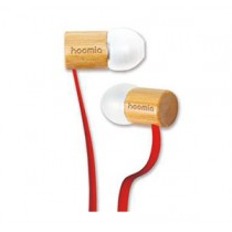 HOOMIA X5 Nature Wooden In-Ear Stereo Headset - Saffron Pear/Red Cable