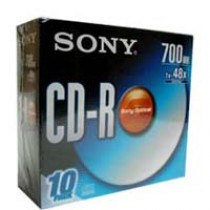 SONY CDR(彩碟) 700MB 薄盒10隻