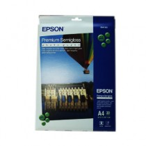 EPSON S041332 PREMIUM SEMI-GLOSSY PHOTO PAPER A4 (20 Sheets)