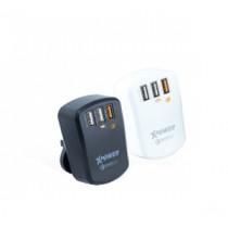 XPOWER QC3.0 3-Port 7.8A USB Smart Travel Charger – Black (XP-WC3Q3-BK)