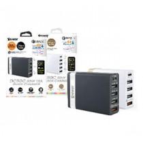 XPOWER DC5QC 60W 5-PORT USB CHARGER W/QC3.0 + TYPE-C – BLACK (XP-DC5QC-BKSI)