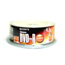 SONY DVD-R 4.7GB 8X 120MIN 25隻裝