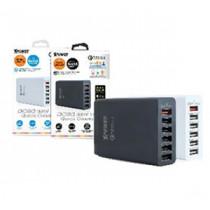 XPOWER DC6Q 11.6A 6-Port USB Smart Charger w/QC3.0 – Black (GPE058A-BK)