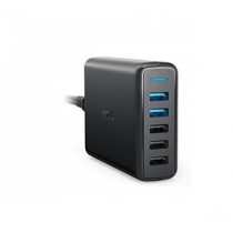 ANKER POWER SPEED 5 2xQC3.0 5-PORT USB CHARGER - BLACK (A2054k11)