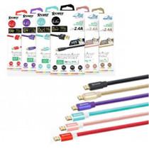 XPOWER 3RD GEN 1.2M ALUMINIUM ALLOY MICRO USB CABLE – BLACK (XP-AA3G1_2-BK)