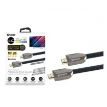 XPOWER Zn Alloy 1.2M HDMI to HDMI Cable- 1.2M – Black (XP-HDMIZN1_2-BK)