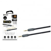XPOWER 1.2M ALUMINIUM ALLOY 3.5mm AUDIO NYLON CABLE - BLACK (XP-AC1_2-BK)
