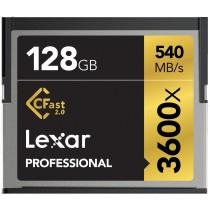 Lexar 128GB Professional 3600x CFast 2.0 card