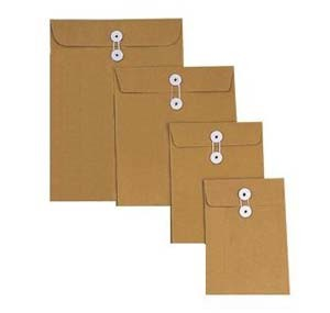 """BROWN ENVELOPE WITH STRING  9"""" x 12"""""""