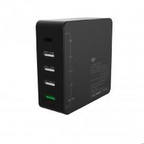 EGO TYPE-C PD X QC3.0 5-PORT 72W USB CHARGER – BLACK (PD-010PT)
