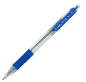 三菱 SN-101 橡膠手柄按制原子筆 - 藍色