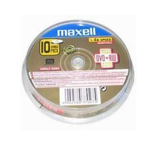 MAXELL DVD+RW 4.7GB/4X (10PCS/SPINDLE)