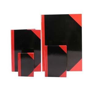 """紅黑面 8"""" x 13""""  硬皮簿 (200頁)"""
