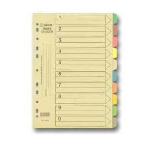 地球牌  2010 A4 十級彩色紙索引分類