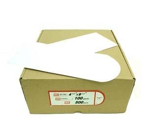 """4.5"""" x 9.5"""" 加大企口白信封 (500個裝)"""