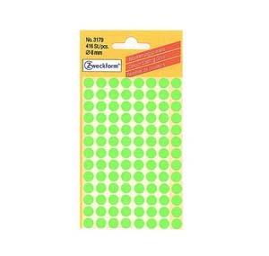 詩藝寶 3179 圓點標貼 8mm - 熒光綠色 (416個裝)