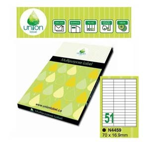 UNION 多用途標貼  N4459-100 70 x 16.9mm (1張51個)