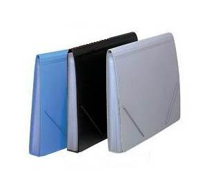 A4 實色風琴文件袋 - 黑色