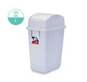 413 長方型搖蓋式灰色廢紙膠桶