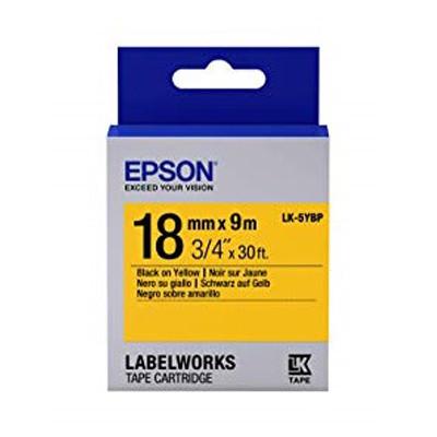 EPSON C53S655404 (LK-5YBP) BLACK ON YELLOW 18MM TAPE