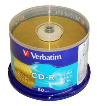 VERBATIM CDR GOLD 52X 700/80 (50PCS/SPINDLE) (41735)