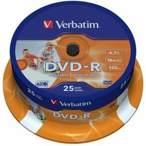 VERBATIM DVD-R 4.7GB 16X (25PCS/SPINDLE)